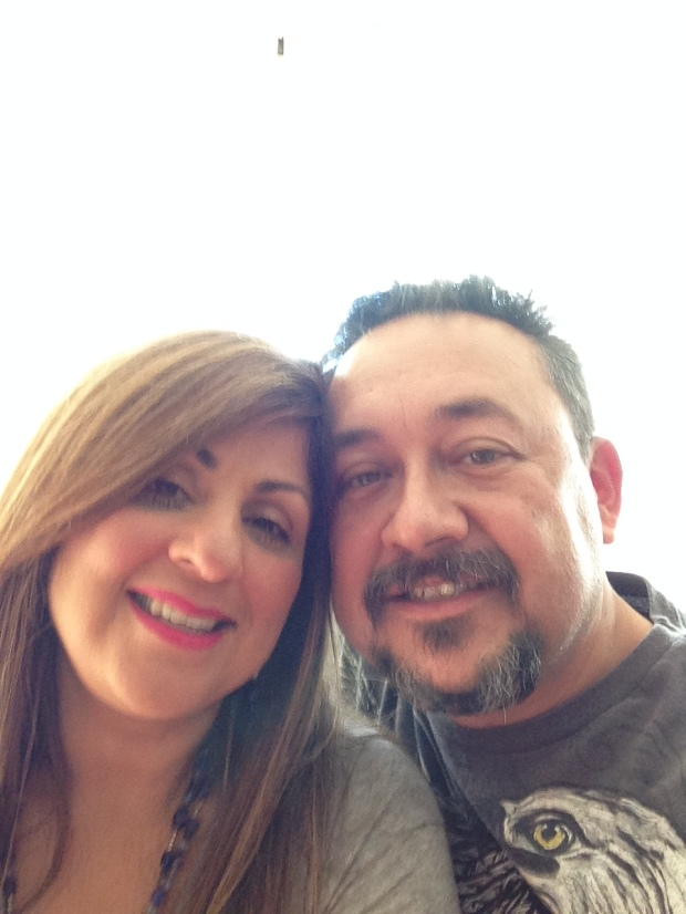 My wife and I. Together