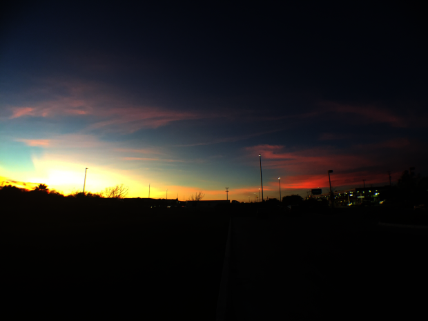 A Texas sunset in January