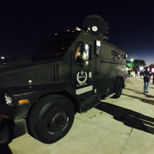 A SWAT truck in San Antonio Texas