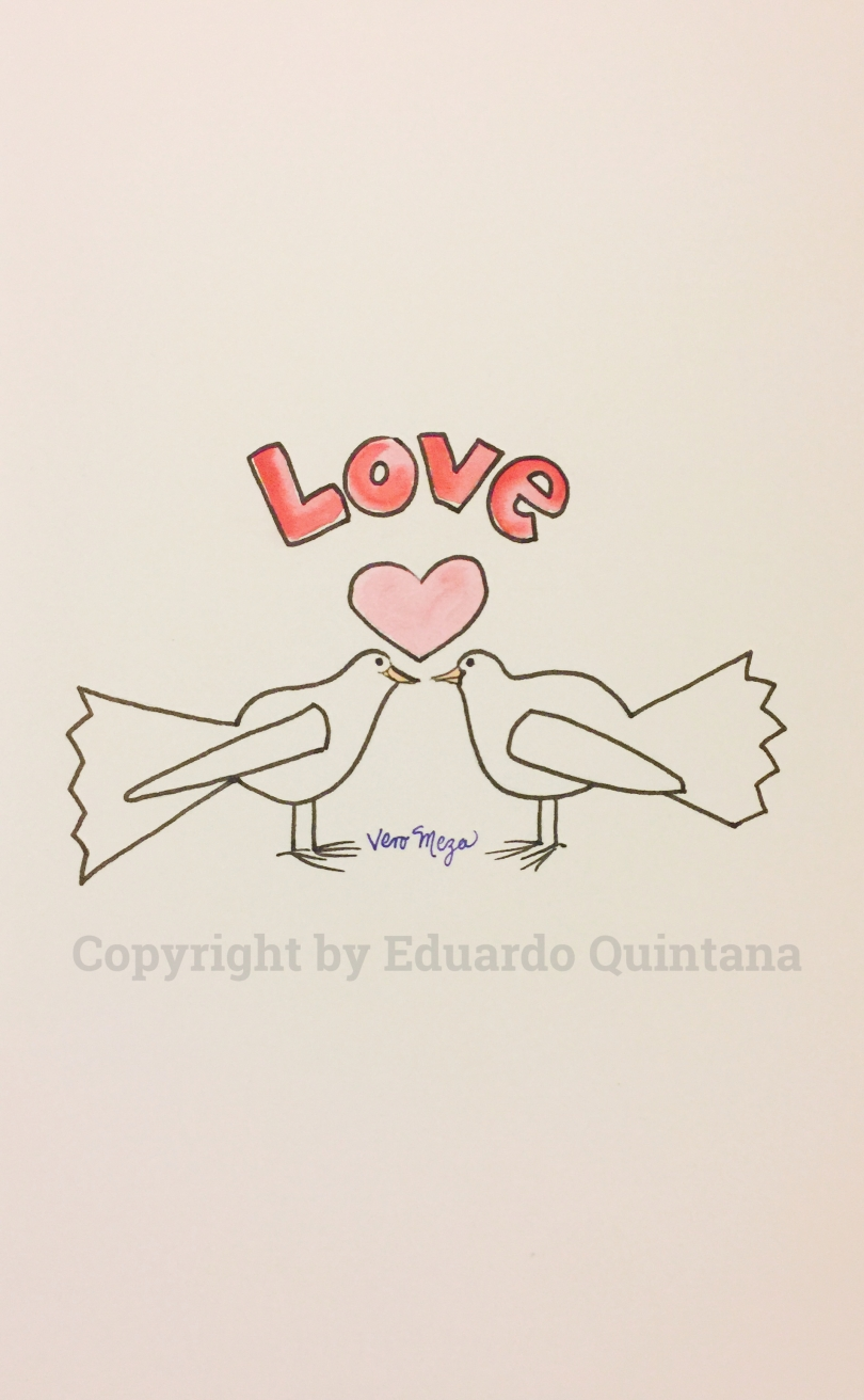 A masterful illustration of Love by Veronica Meza